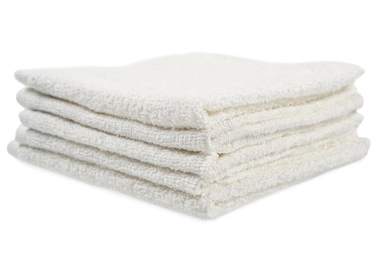 Stapel handdoeken stock foto's