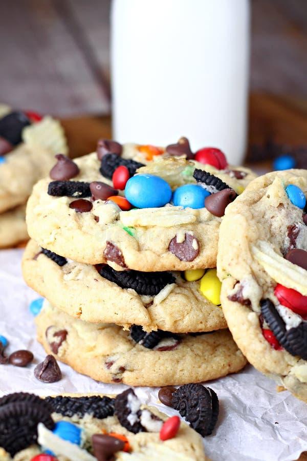 Stapel heerlijke koekjes stock fotografie