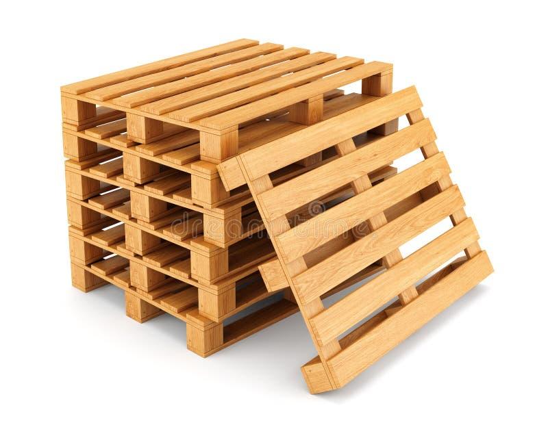 Stapel houten pallets royalty-vrije illustratie