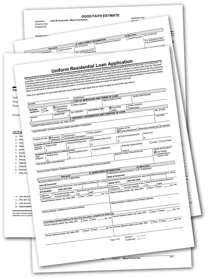 Stapel Hypotheken-Dokumente