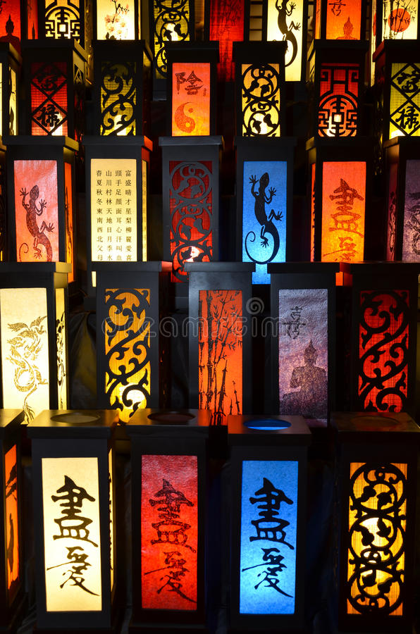 Stapel japanse lampen stock illustratie illustratie for Lampen japan