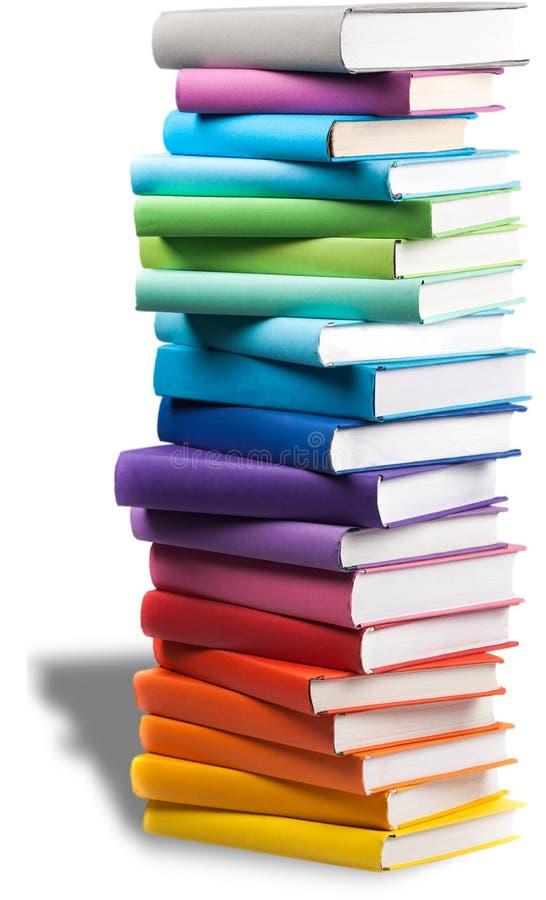 Stapel kleurrijke boeken royalty-vrije stock foto's
