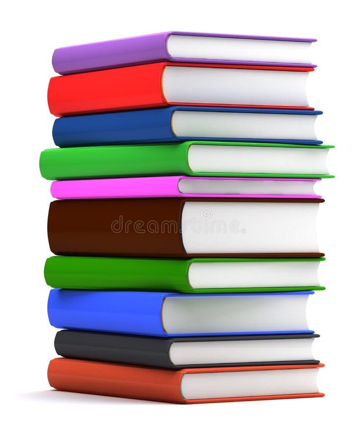 Stapel kleurrijke boeken stock illustratie