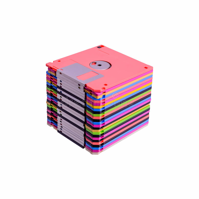 Stapel kleurrijke diskettes royalty-vrije stock fotografie