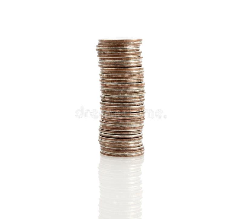Stapel kwarten stock foto