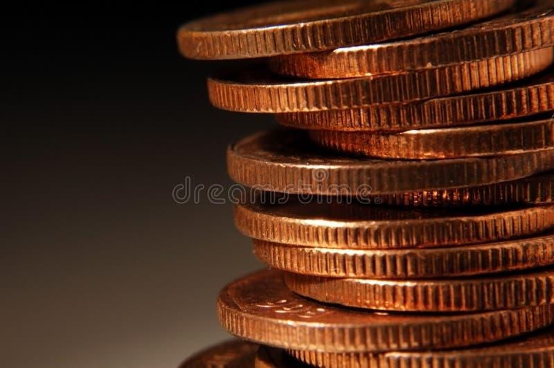 Stapel Münzen stockfotografie