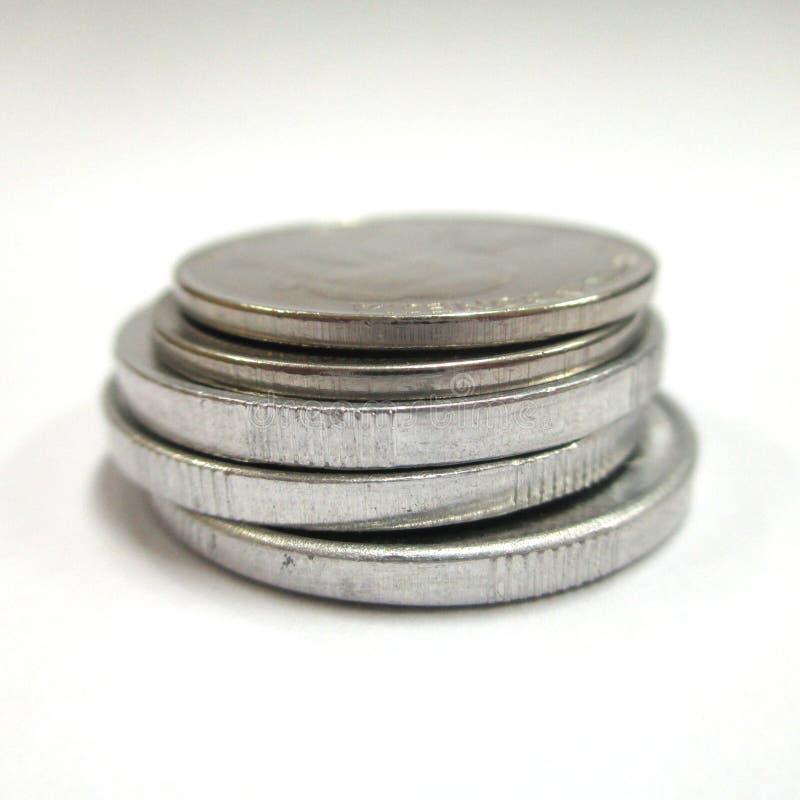 Stapel Münzen stockbilder