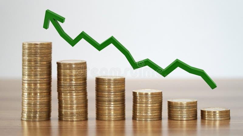 Stapel Münzen in einem Wachstum Real Estate stockfotografie