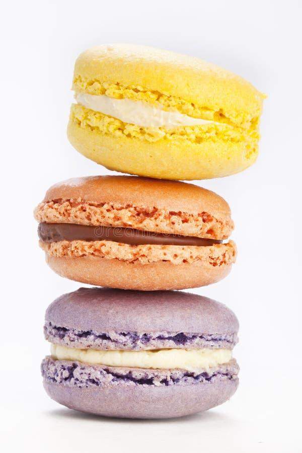 Stapel macarons stock afbeelding