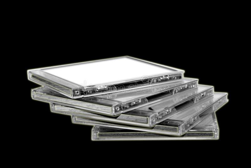Stapel Mini-DVD Platten stockfotografie