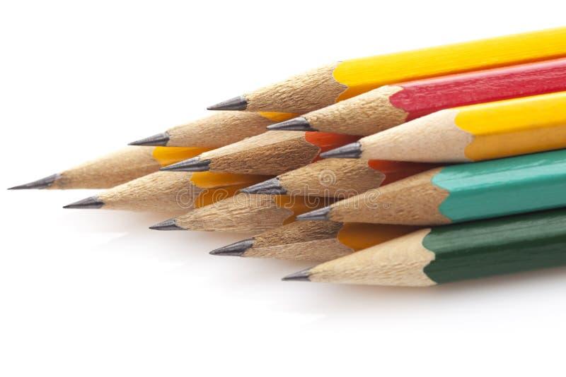Stapel Multicolored Pensils Stock Foto