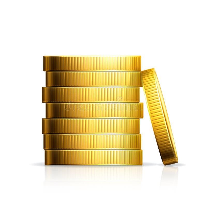 Stapel muntstukken royalty-vrije illustratie