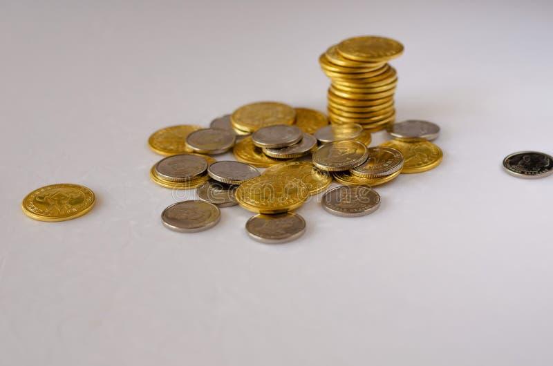 Stapel muntstukken royalty-vrije stock foto's