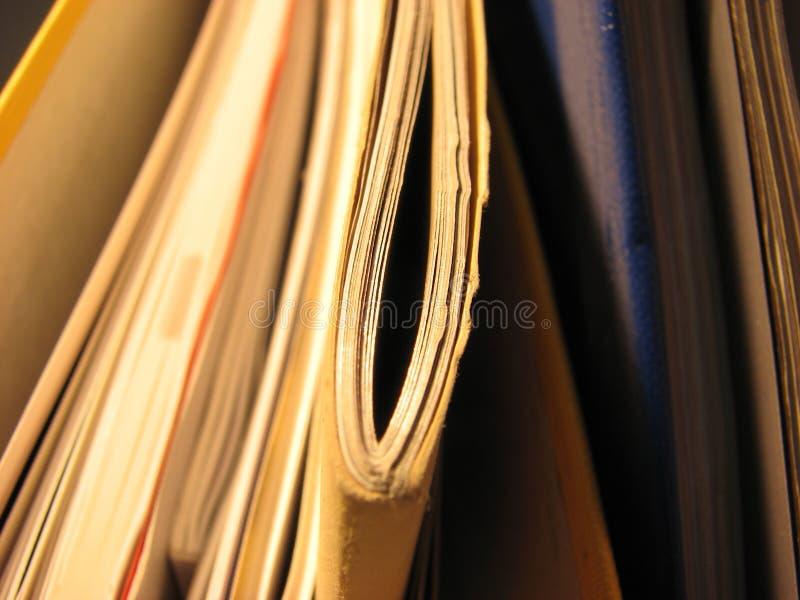 Stapel oder Stapel Papiere stockfotos