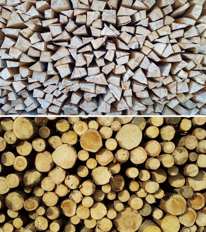 Stapel op brandhout stock foto