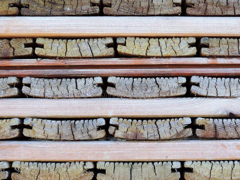 Stapel oude houten raad stock afbeelding