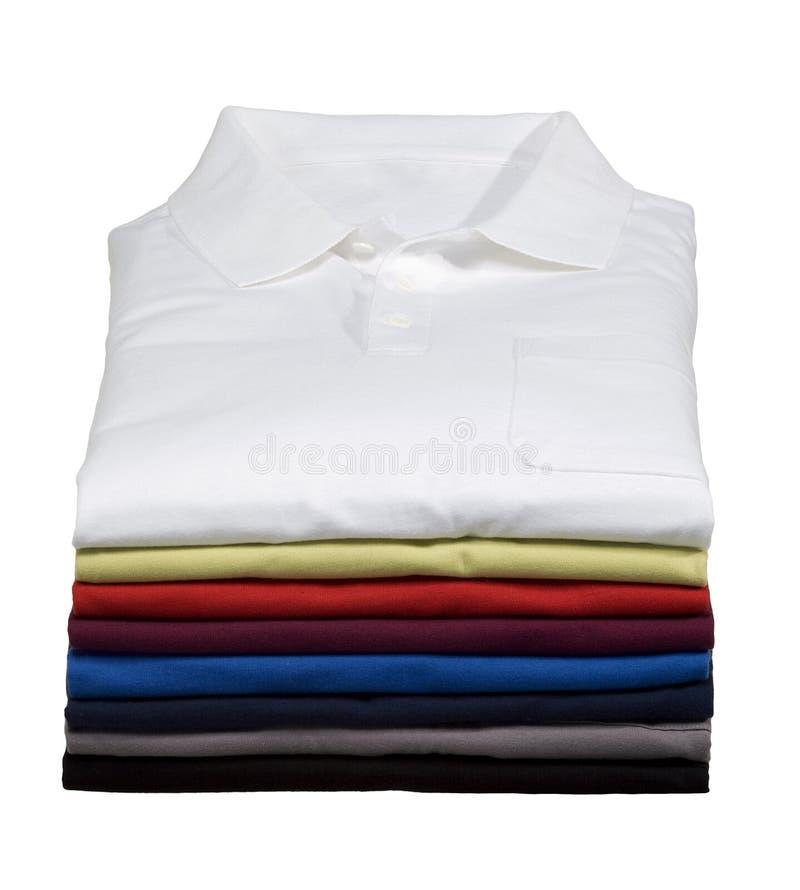 Stapel Overhemden van het Polo stock foto