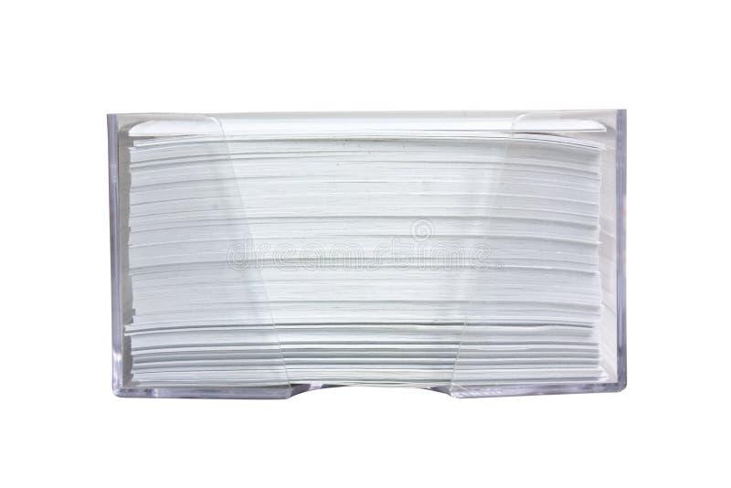 Stapel Papier in einem Kasten lizenzfreies stockfoto