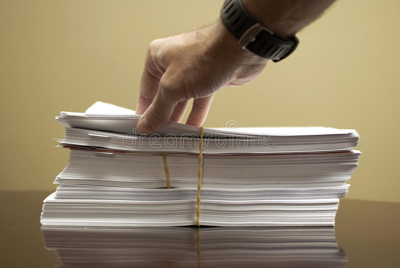 Stapel Papiere lizenzfreie stockfotos