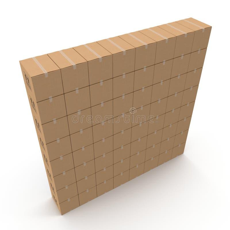 Stapel Pappschachteln lokalisiert auf Weiß vektor abbildung