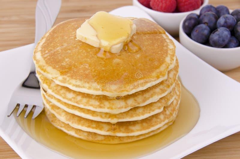 Stapel Pfannkuchen stockbild
