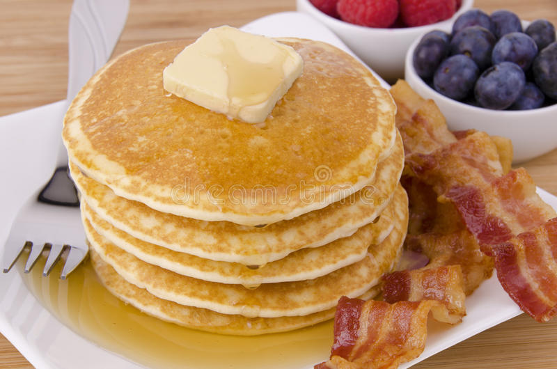 Stapel Pfannkuchen stockbilder