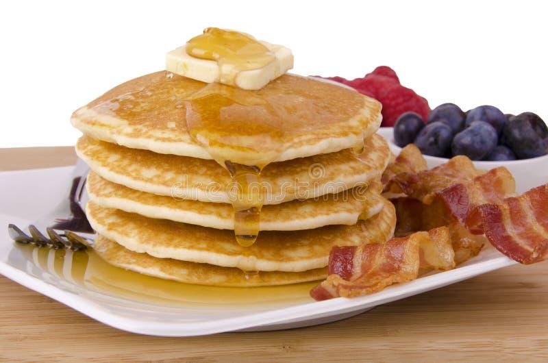 Stapel Pfannkuchen lizenzfreie stockbilder