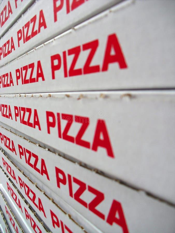 Stapel pizzadozen stock fotografie
