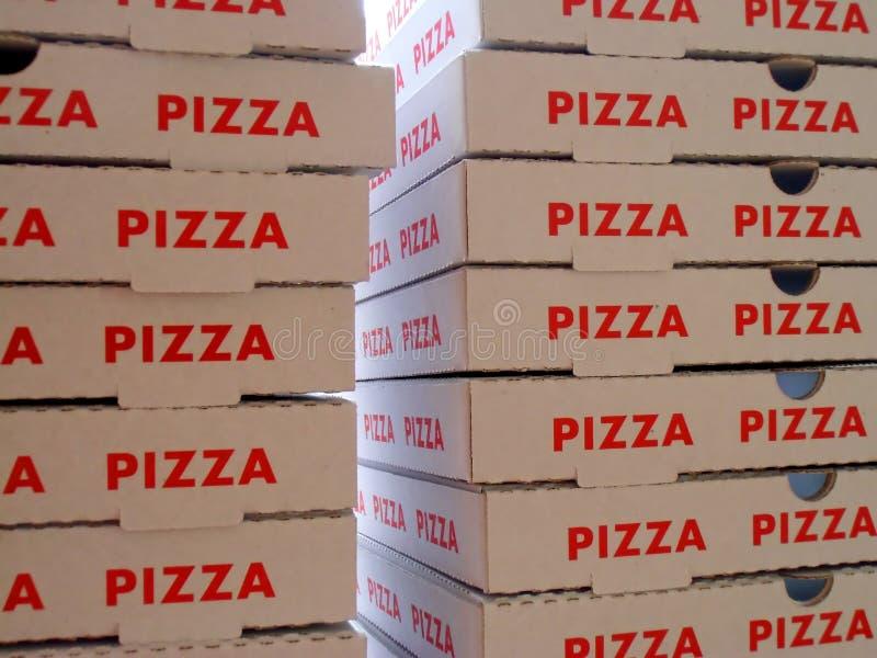 Stapel pizzadozen stock foto
