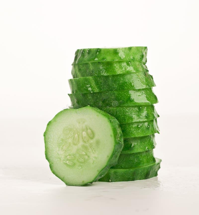 Stapel plakken van komkommer royalty-vrije stock foto's