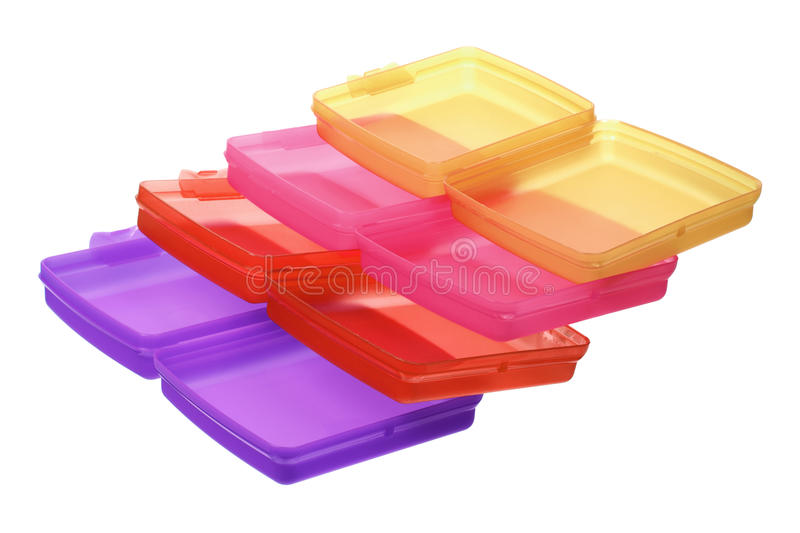 Stapel Plastic Containers royalty-vrije stock afbeelding