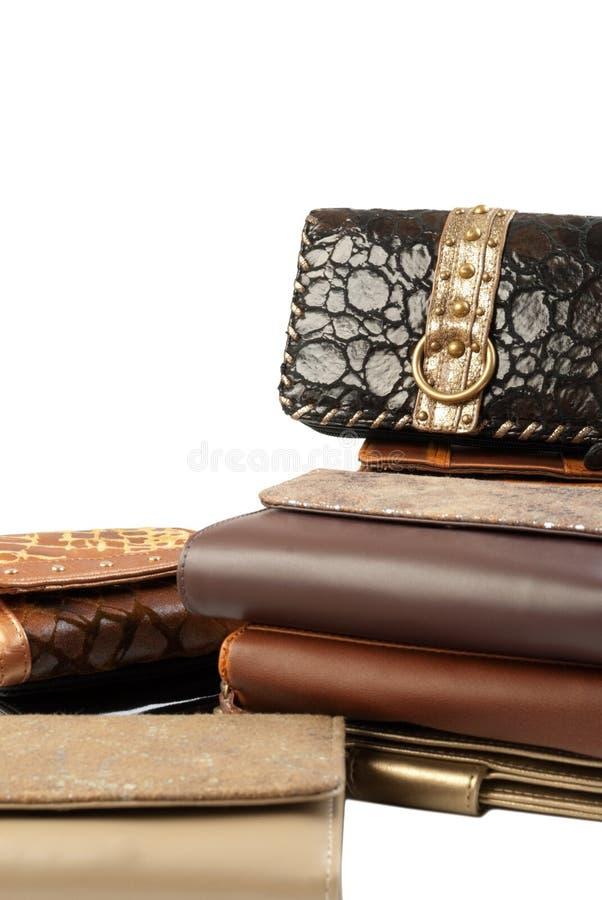 Stapel portefeuilles | Geïsoleerde stock foto's