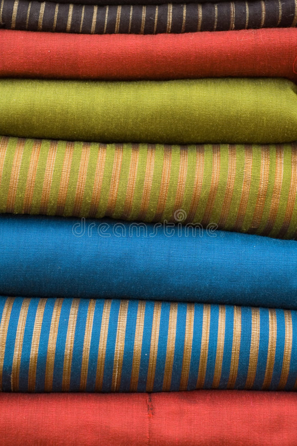 Stapel silk Gewebe stockfotografie