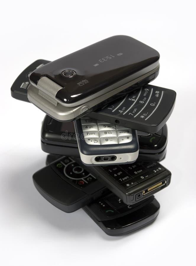 Stapel Telefoons royalty-vrije stock foto