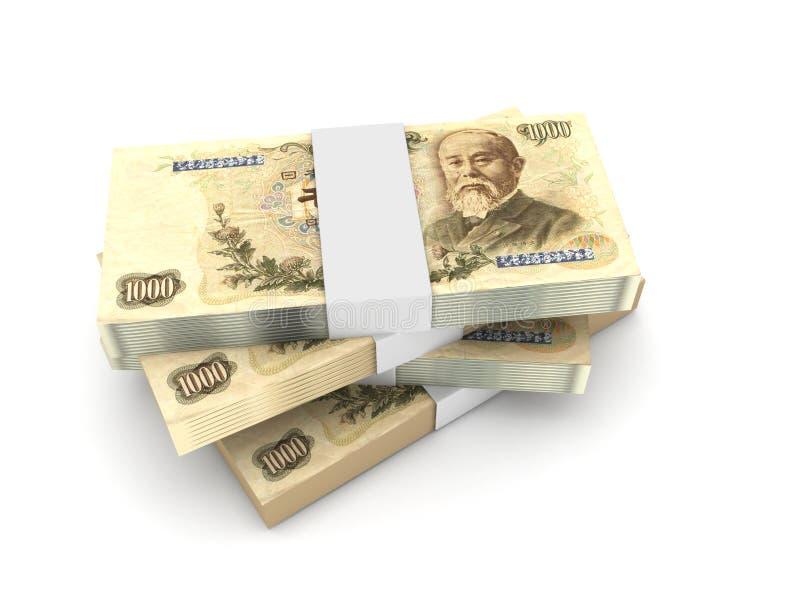 Stapel van 1000 Yenrekeningen royalty-vrije illustratie