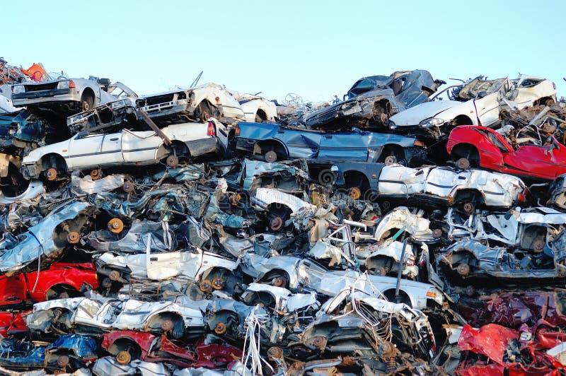 Stapel van auto's stock fotografie