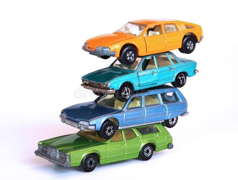 Stapel van auto's royalty-vrije stock afbeelding