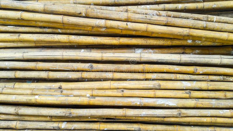 Stapel van bamboe royalty-vrije stock afbeelding