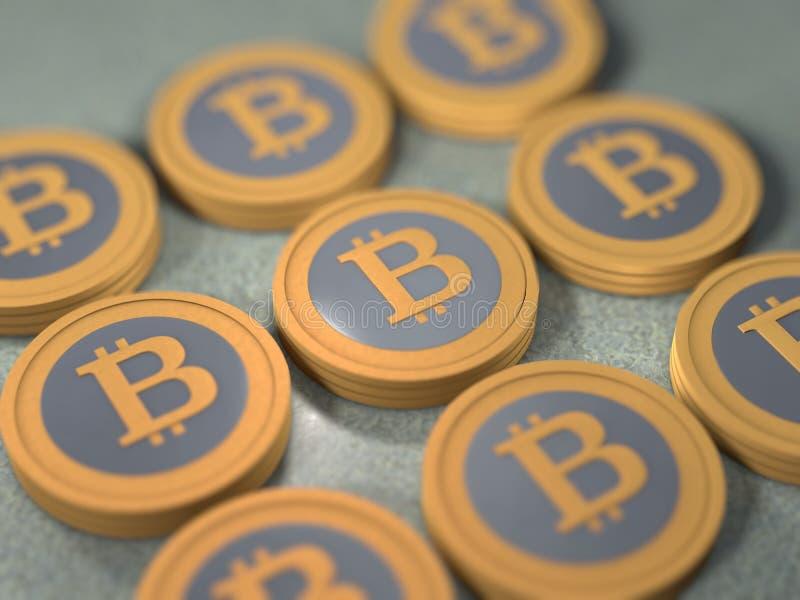 Stapel van Bitcoins royalty-vrije illustratie