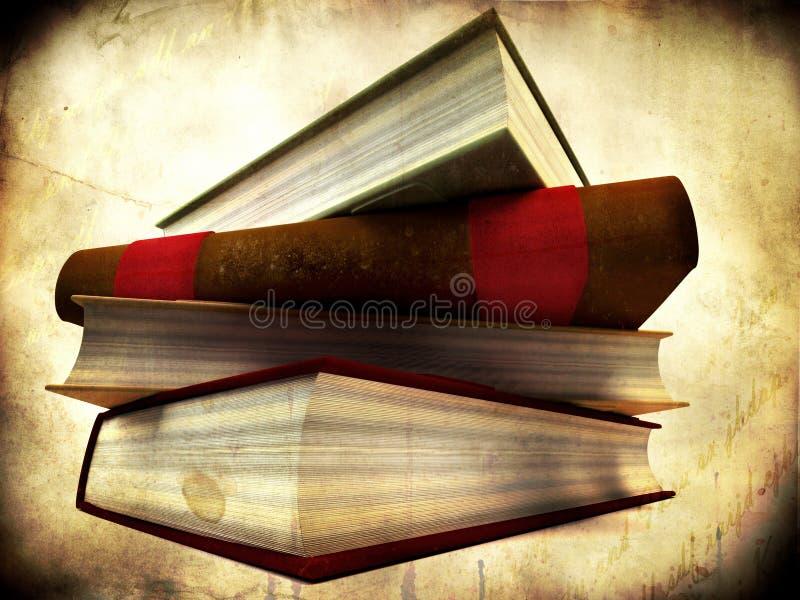 Stapel van boeken stock illustratie