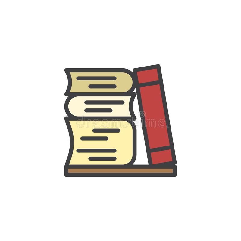 Stapel van Boeken gevuld overzichtspictogram royalty-vrije illustratie