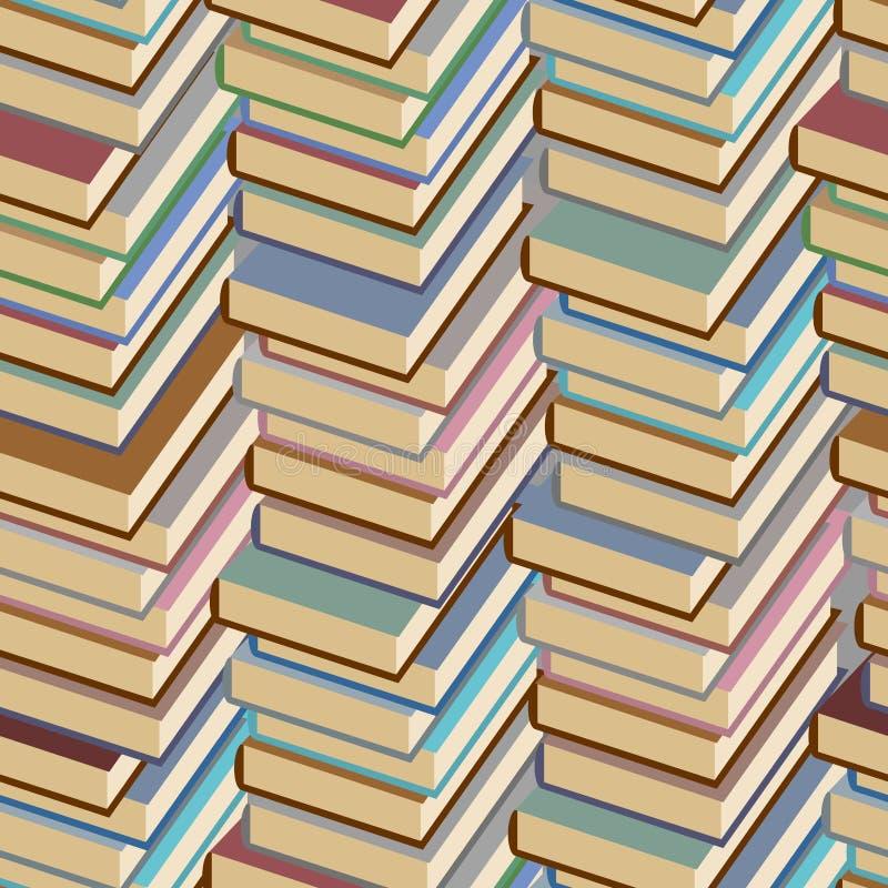 Stapel van boeken naadloos patroon Het kan voor prestaties van het ontwerpwerk noodzakelijk zijn royalty-vrije illustratie