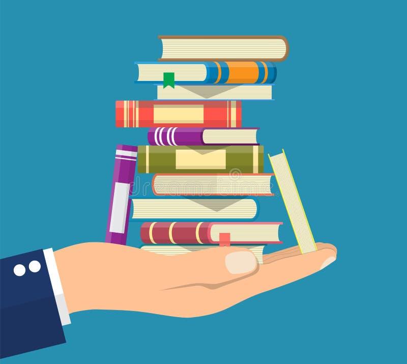 Stapel van boeken ter beschikking vector illustratie