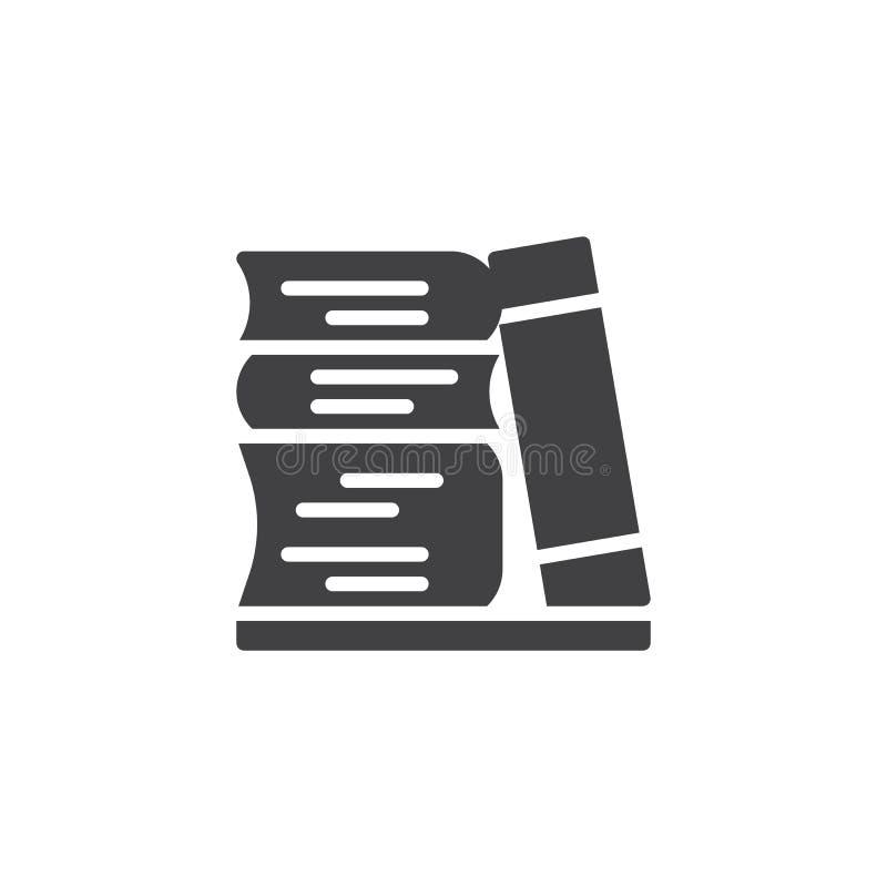 Stapel van boeken vectorpictogram royalty-vrije illustratie