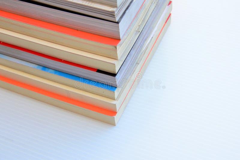 Stapel van boekgrens stock foto