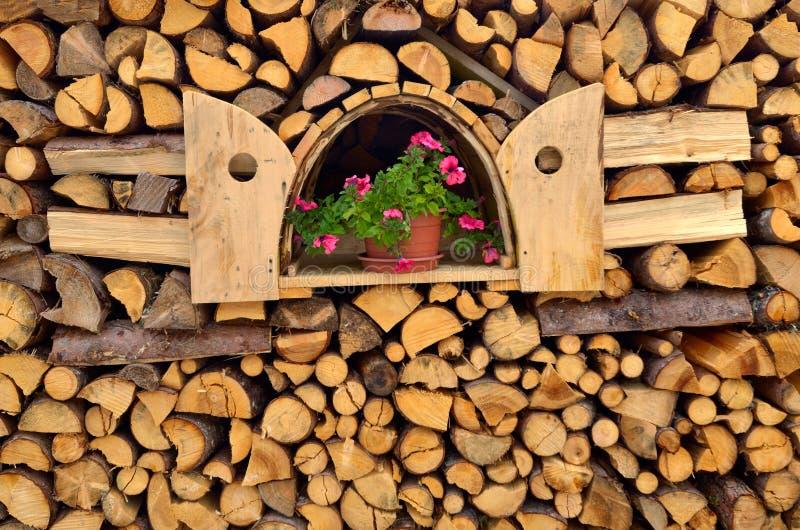 Stapel van brandhout royalty-vrije stock fotografie