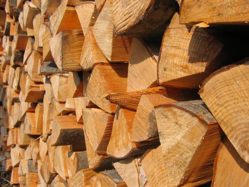 Stapel van brandhout royalty-vrije stock afbeeldingen