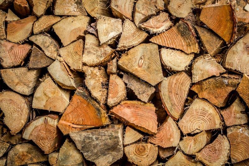 Stapel van brandhout royalty-vrije stock afbeelding