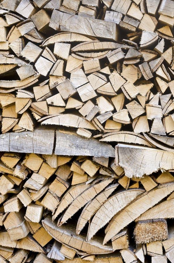 Stapel van brandhout stock foto's