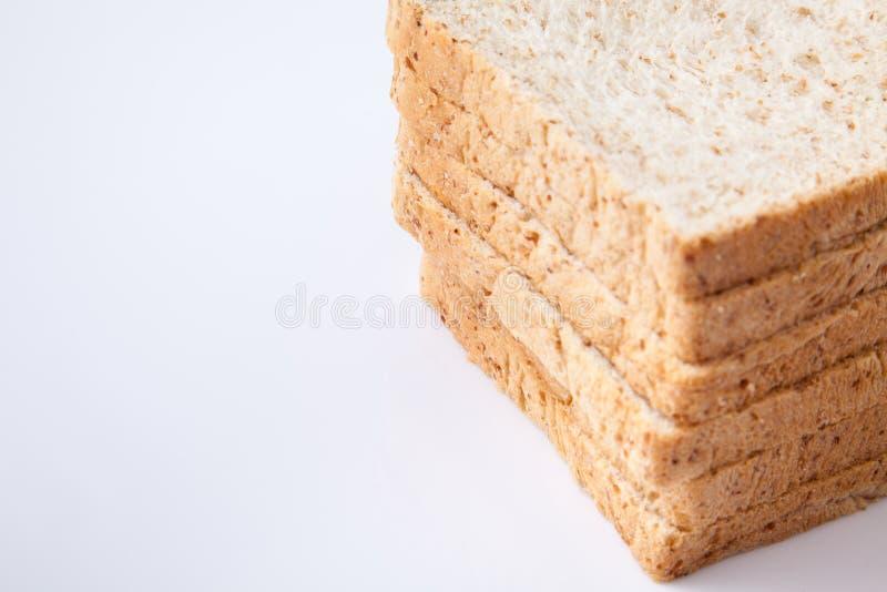 Stapel van brood van de plak het gehele tarwe stock afbeeldingen